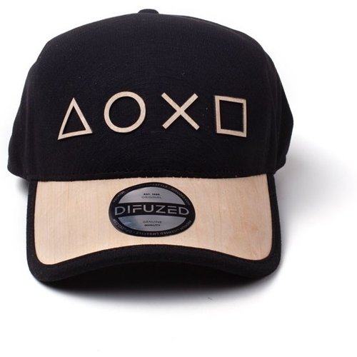 Playstation Seamless Wooden Symbols Cap