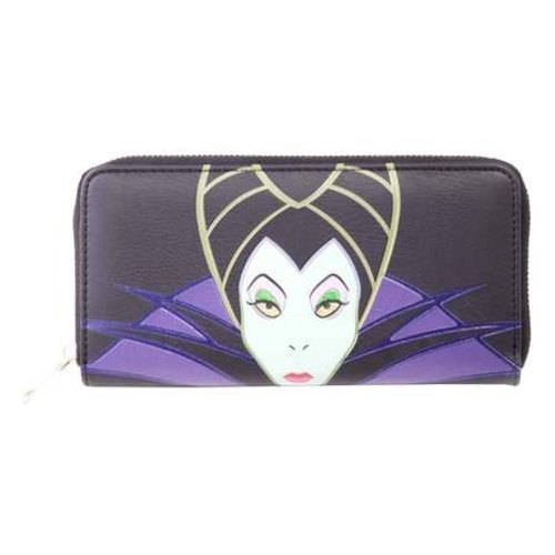 Disney Maleficient Ladies Zip Around Wallet