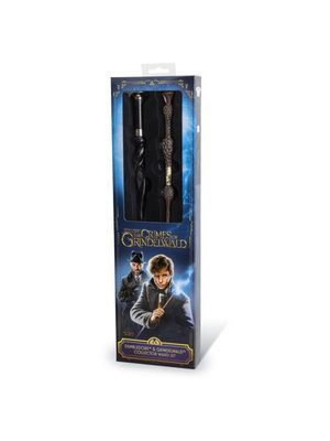 Fantastic Beasts Dumbledore + Grindelwald Wand Set Noble Collection