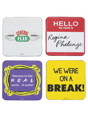 Friends Quotes Coasters (set of 4) Onderzetters
