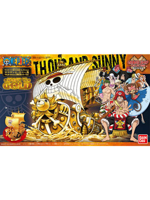 One Piece Thousand Sunny Gold Model Kit Ship 15 Cm