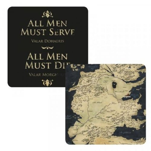 Game of Thrones All Men Must Serve Lenticular Coaster (1STK)