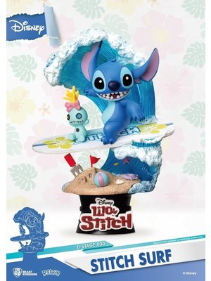Beast Kingdom Disney Diorama Stitch Surf 15cm D-Stage