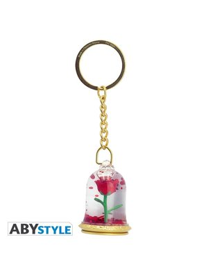 Disney Beauty and the Beast 3D Rose Keychain
