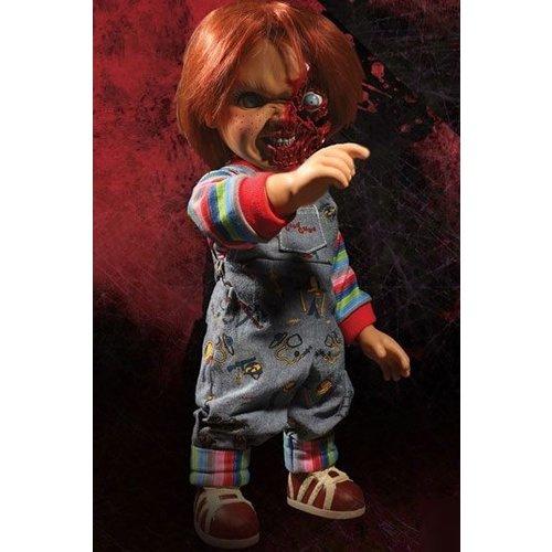 Childs Play 3 Mega Talking Pizza Face Talking Chucky 38cm Doll Mezco Toys
