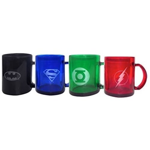 DC Comics Translucent Mugs Set of 4