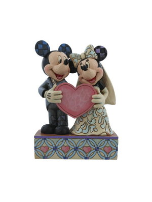 Disney Traditions Two Souls, One Heart (Mickey Mouse and Minnie Mouse Figurine