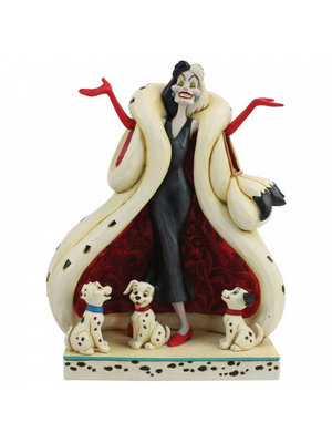 Disney Traditions The Cute and the Cruel (Cruella and Puppies Figurine)