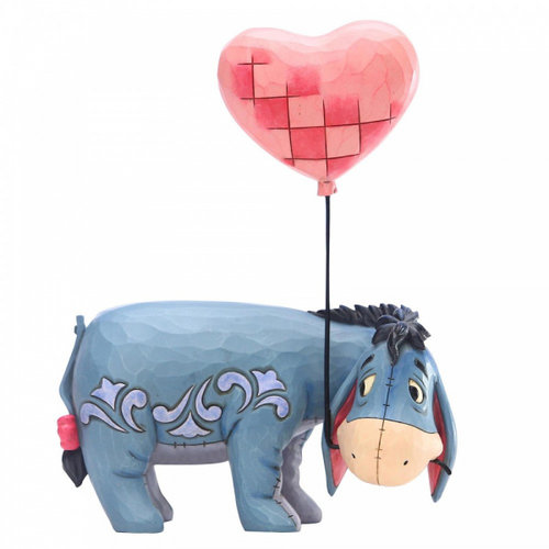 Disney Traditions Eeyore with a Heart Balloon Figurine