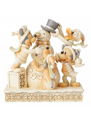 Disney Traditions Frosty Friendship (White Woodland Mickey and Friends)