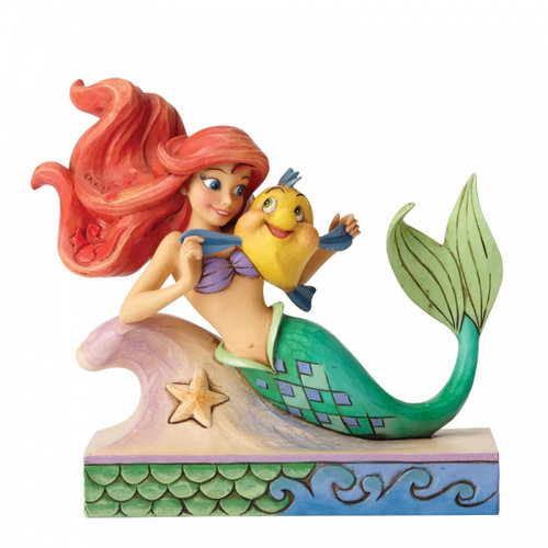 Disney Traditions Fun and Friends (Ariel with Flounder Figurine)