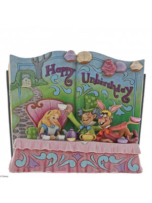 Disney Traditions Happy Unbirthday (Storybook Alice in Wonderland Tea Party)