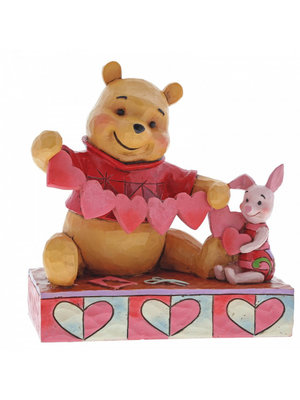 Disney Traditions Handmade Valentines (Pooh and Piglet Figurine)