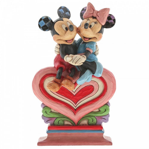Disney Traditions Heart to Heart (Mickey Mouse and Minnie Mouse Figurine)