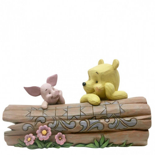 Disney Traditions Truncated Conversation (Pooh and Piglet on a Log Figurine)