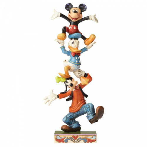 Disney Traditions Teetering Tower (Goofy, Donald Duck and Mickey Mouse Figurine