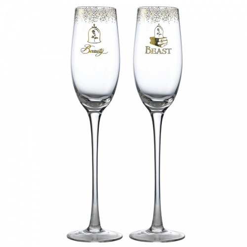 Disney Enchanting Collection Belle Wedding Toasting Glasses