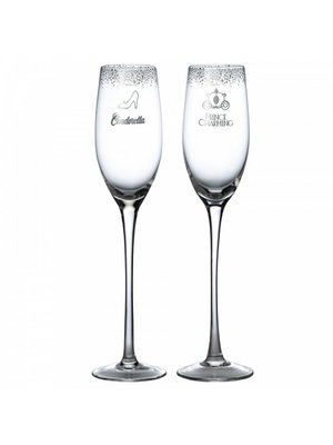 Disney Enchanting Collection Cinderella Wedding Toasting Glasses