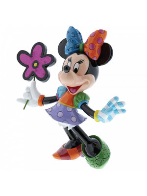Disney Britto Minnie Mouse with Flowers Figurine