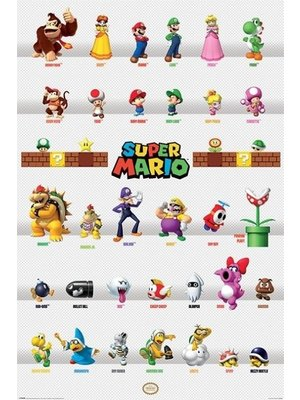 Super Mario Character Parade Maxi Poster 61x91.5