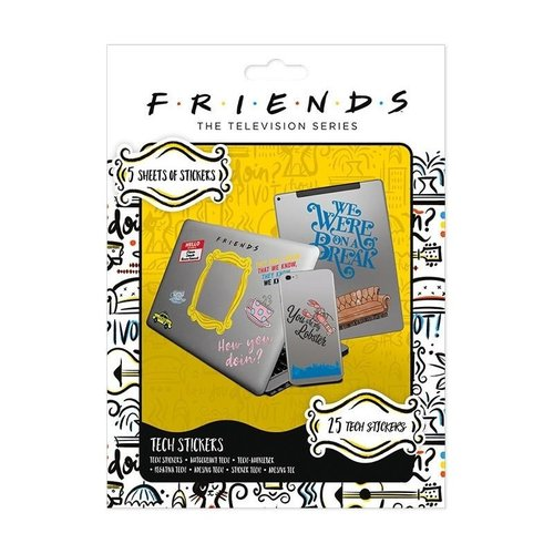 Friends Tech Stickers Set van 25 Stickers