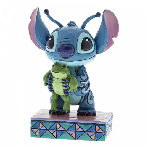 Disney Traditions Strange Life-Forms (Stitch with Frog Figurine)