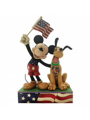 Disney Traditions A Banner Day (Mickey and Pluto Patriotic Figurine)