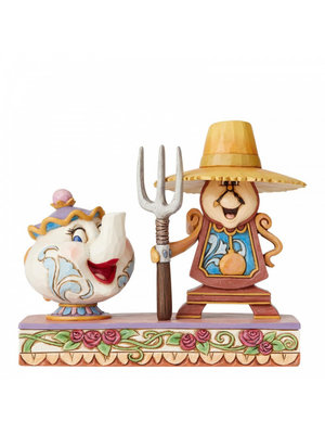 Disney Traditions Workin Round the Clock (Mrs Potts and Cogsworth)