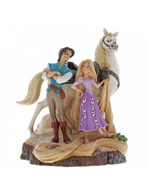 Disney Traditions Live Your Dream (Carved by Heart Tangled Figurine)
