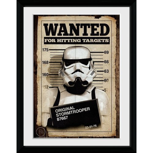 Star Wars Original Stormtrooper Wanted Framed Collector Print 30x40