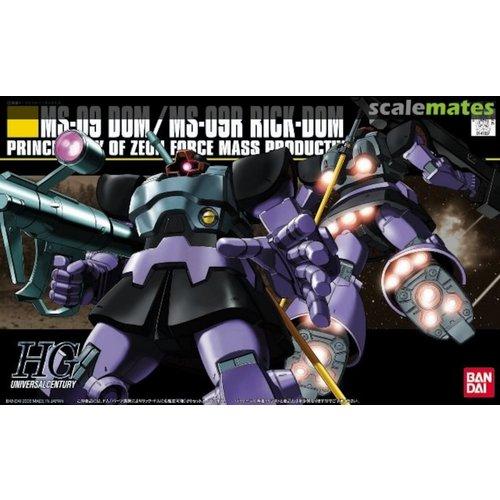 Bandai Gundam HGUC MS-09 Dom/MS-09R Rick Dom Scale 1:144 Model Kit