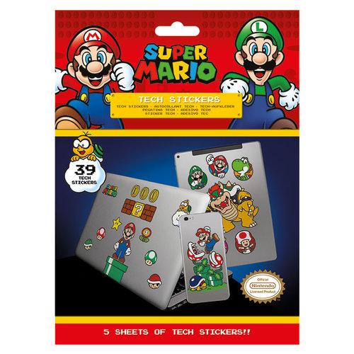 Super Mario Mushroom Kingdom Stickers Set van 25