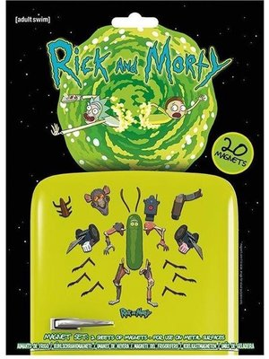 Rick and Morty Weaponize the Pickle Magnet Set of 20