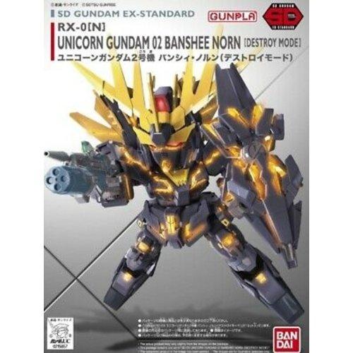 Bandai Gundam SD Gundam Ex-Standard 015 Unicorn Banshee 02 Model Kit 8cm