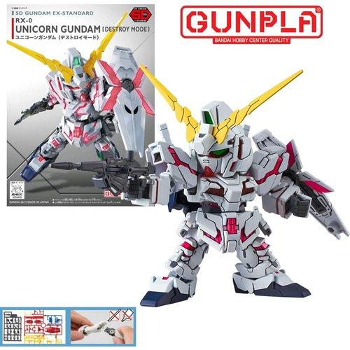 Bandai Gundam SD Gundam EX-Standard 005 Unicorn Destroy Model Kit 8cm