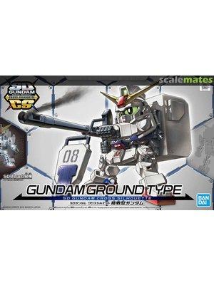 Bandai Gundam SD Gundam Cross Silhouette Gundam Ground Type Model Kit 8cm