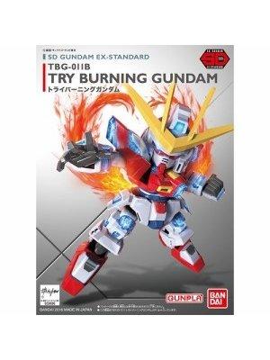 Bandai Gundam SD Ex Burning Gundam Model Kit 8cm