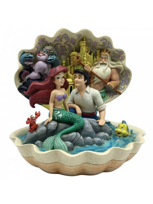 Disney Traditions Seashell Scenario (The Little Mermaid Shell Scene Figurine)
