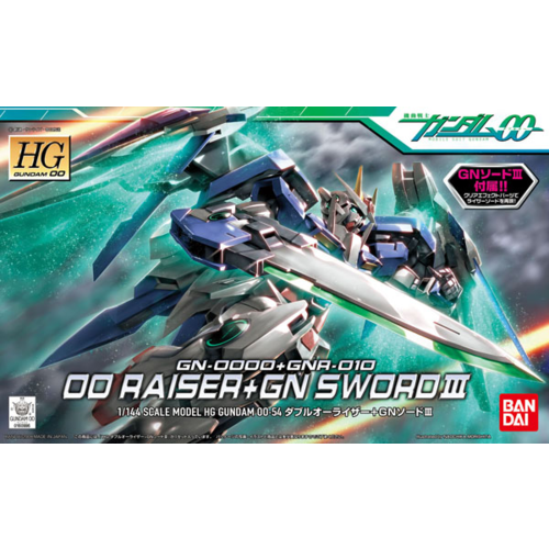 Bandai Gundam HG OO Raiser+GN Sword II 1/144 Model Kit
