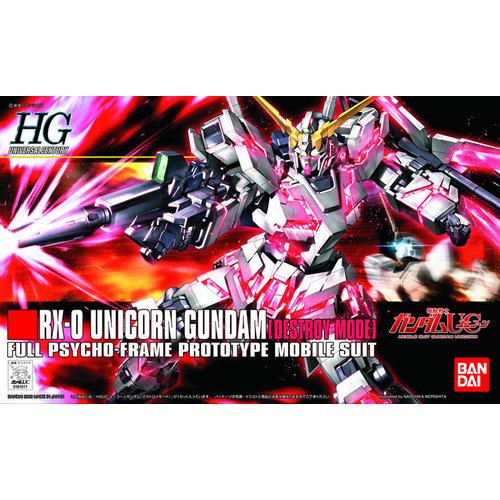 Bandai Gundam HGUC 1/144 RX-0 Unicorn Gundam Model Kit 13cm 100