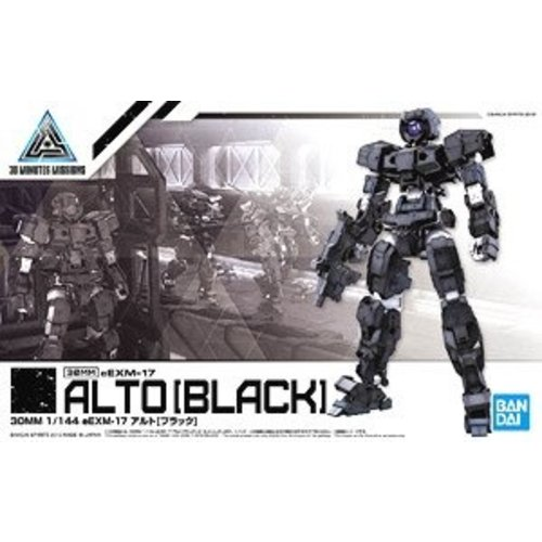 Bandai Gundam 30MM 1/144 eEXM17 - Alto Black Model Kit 13