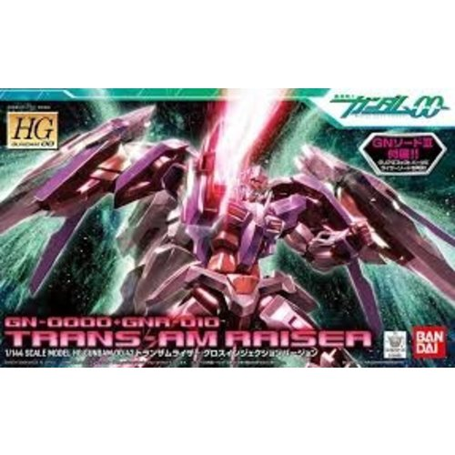 Bandai Gundam HG 1/144 TransAm Raiser Gloss Injection V Model Kit 13cm