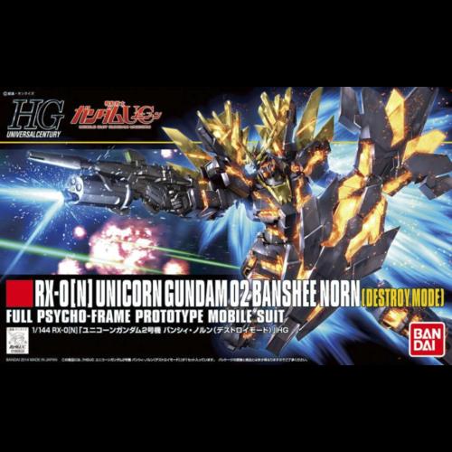 Bandai Gundam HGUC 1/144 Unicorn Gundam 02 Banshee Norm Model Kit 13cm 175