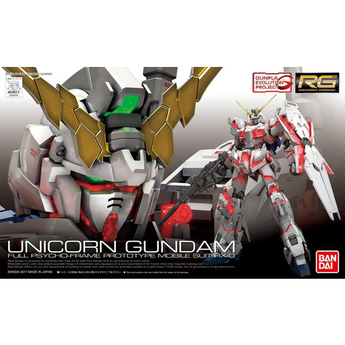 Bandai Gundam RG 1/144 Unicorn Gundam (campaign) Model Kit 13cm