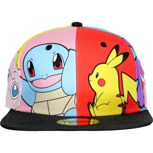 Difuzed Pokemon Multi Popart Snapback Cap