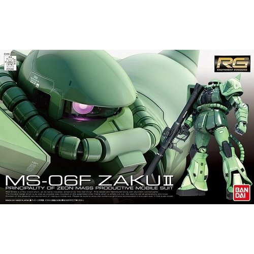 Bandai Gundam RG 1/144 MS-06F Zaku II Model Kit 13cm 04
