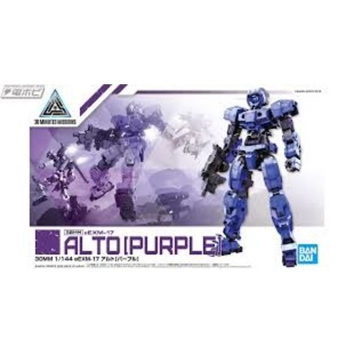 Bandai Gundam 30mm eEXM-17 Alto Purple Model Kit