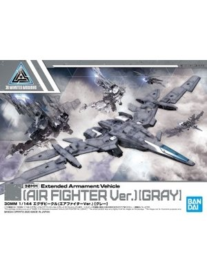 Bandai Gundam 30MM 1/144 EVA Vehicle Air Fighter Gray Model Kit