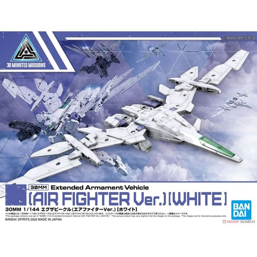 Bandai Gundam 30MM 1/144 EVA Vehicle Air Fighter White Model Kit