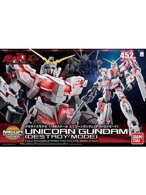 Bandai Gundam MS Mega Size Unicorn Gundam Destroy Mode 1/48 Model Kit